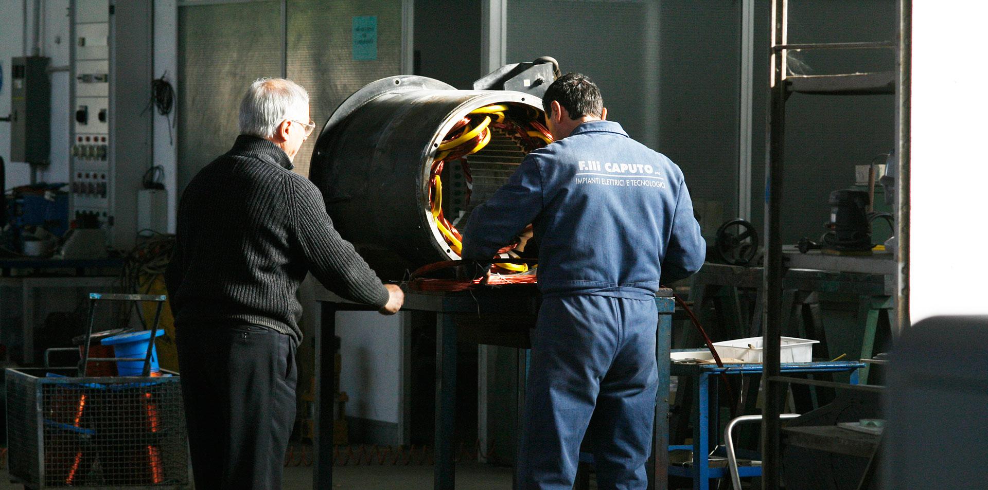 Manutenzione motori elettrici